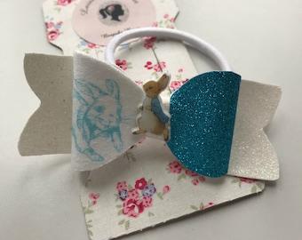 Blue Peter Rabbit Bow Hair Elastic tie