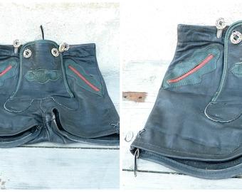 Vintage German Tyrol Austria black lederhosensize 6/8 years