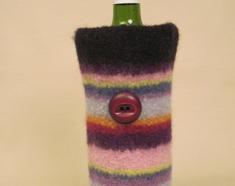 Hand Felted Wine Cozy