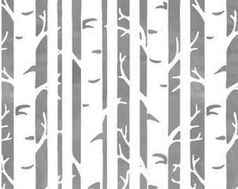 BIRCH Baby Bedding -Neutral Changing Pad Cover -GRAY Crib Sheet -Mini Crib Sheet - Woodland Crib Bedding - Birch Trees -Toddler Crib Sheet