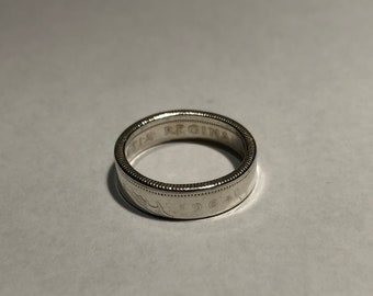 Canadian Quarter Silver Ring