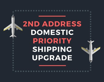 PRIORITY Domestic Shipping to SECOND Address