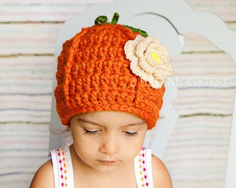 Pumpkin Hat, Pumpkin baby costume, Newborn Pumpkin hat, Baby hat, Toddler Halloween costume, Toddler hat, Toddler girl winter hat