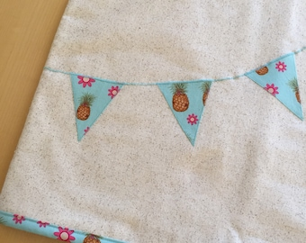 Stand Mixer Cover with Pineapple Banner in Blue