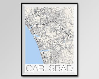 Carlsbad map Etsy