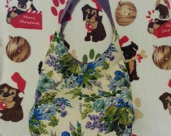 Floral Hobo Bag- Reversible