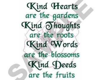 Gardening Poem - Machine Embroidery Design