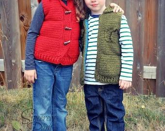 Marek Puffy Vest Crochet Pattern pdf
