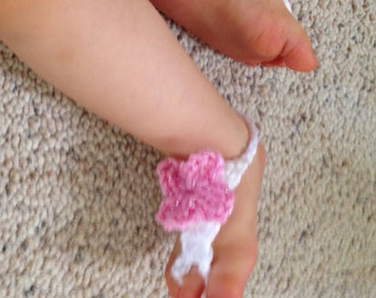 Baby footless sandals, baby sandals ,crochet footless sandals, baby shower gift, footless sandals, Crocheted baby sandals