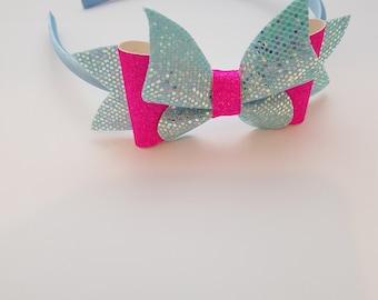 Headband, Fabric, Bow, Glitter, Hair Accessories, Clips, Accessories, Hair, Ribbon, Bows.