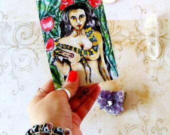 Fantasy Art Prayer Card Altar Art Goddess Print Pagan Art Goddess Art Lilith Dark Goddess Spiritual Art Pagan Ritual Altar Mythological Art
