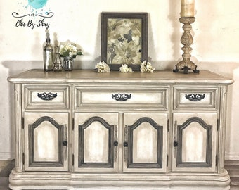 SOLD!!! Rustic Farmhouse Sideboard Buffet Server Console