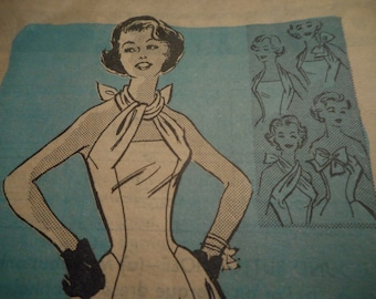 Vintage 1950's Mail Order 4899 Halter Sundress Sewing Pattern Size 12 Bust 32