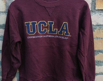 On sale!! UCLA sweatshirt maroon color embroidery logo/spellout logo