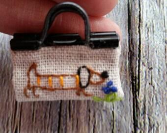 Mini purse keychain