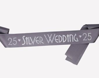 Silver wedding gift, Silver wedding anniversary, 25 years, wedding anniversary gift, wedding keepsake, 25 year anniversary