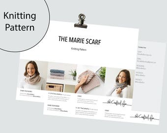 Knitting Pattern | Scarf MARIE | Infinity Scarf