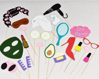 Spa party props |Spa photobooth