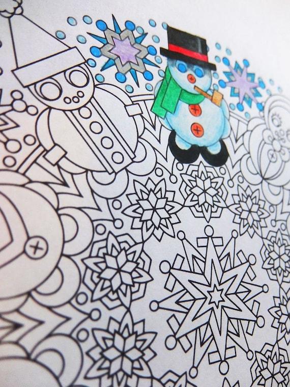 Weihnachten Mandala Malvorlagen lassen Sie es Schneemänner