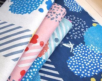 Echino 2018SS blossom cotton linen Japanese Fabric - 50cm