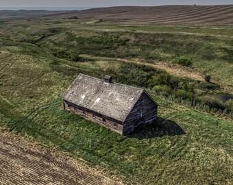 Rustic Abandoned Barn, Fine Art Photo Print, Wall & Home Decor, Rural Alberta, Canada