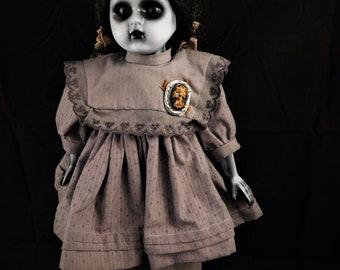 """Zuria 16"""" OOAK Porcelain Horror Doll"""