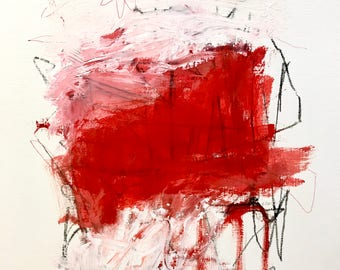 Original Abstract Painting on paper, home decor, expressionism