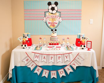 MODERN SOCCER CUP Printable Birthday Party Decor Package