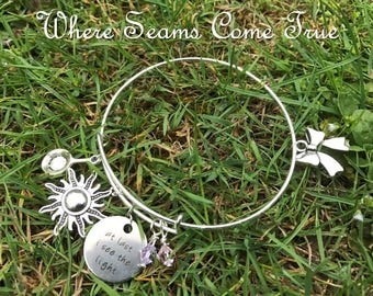 Tangled Quote Bracelet (At Last I See The Light)