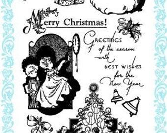 """Christmas Eve // Clear stamps pack (4""""x7"""") FLONZ"""