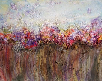 Abstract flowers painting abstract art painting canvas flowers 75