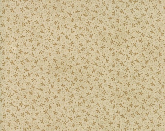 Fig Tree Fabric - Ella and Ollie Fabric Yardage - Moda Quilt Fabric - Tan Tone on Tone Fabric By The 1/2 Yard -