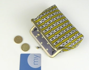 Handmade coin purse in geometric design, Snap closure purse, Card purse, Coin purse, Snap closure purse,  Gifts for her