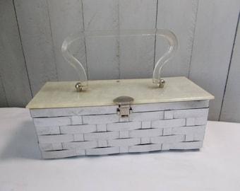 Vintage Lucite Box Purse