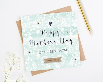 Personalised 'Best Mom' Mother's Day Card