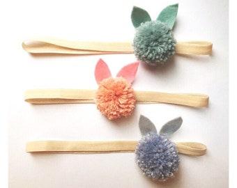 pom pom bunny headbands