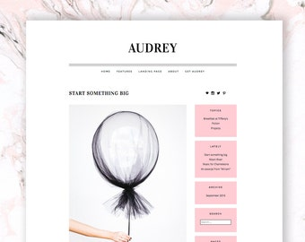 Audrey: a responsive WordPress theme for writers