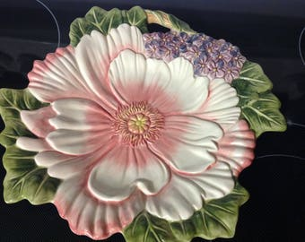 Vintage Fritz And Floyd Ceramic Wall Hanging Dish Handcrafted China