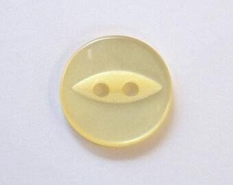 Button 14mm x 50 yellow 2 holes - 001556 fish eye