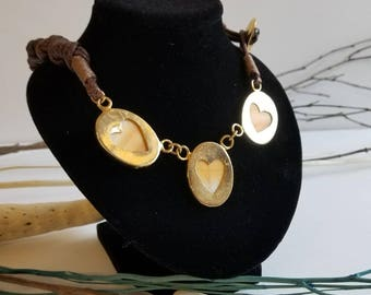 Stone hearts necklace