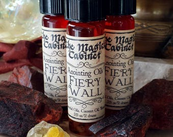 Fiery Wall Oil, Witchcraft, Wicca, Witch, Ritual Oils, Anointing Oil, Witch Oils, Apothecary, Dragons Blood, Wicca Supplies, Witch, Pagan