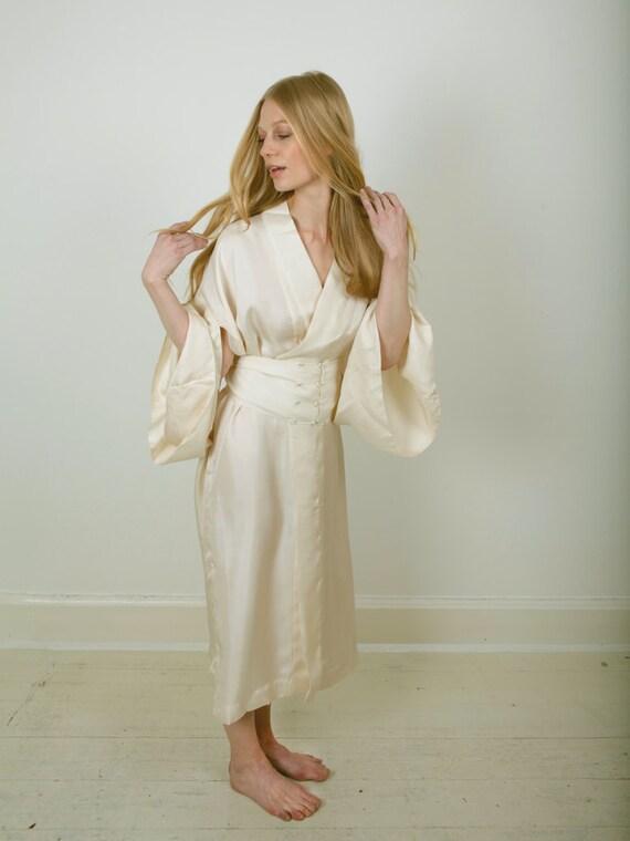 Luxus-Kimono. Seide satin Kimono. Reine Seide Kimono.