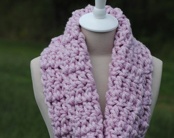 Baby Pink Thick Cowl, Light Pink Cowl, Thick Cowl, Soft Cowl, Warm Cowl, Pink Cowl