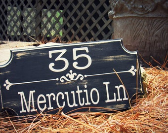 House Address Plaques. Entrance Signs. Home Entry Sign. Address Plaque. Number Sign