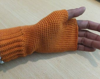 fingerless gloves crochet handmade