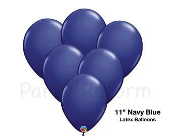 """Navy Blue Balloons 11"""" Latex Balloons / Weddings Photo Props Navy Decor Bridal Shower Baby Shower Engagement Party"""