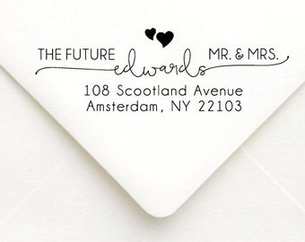 Personalized Self Inking Return Address Stamp - self inking address stamp - Custom Rubber Stamp, Wedding address stamp A26