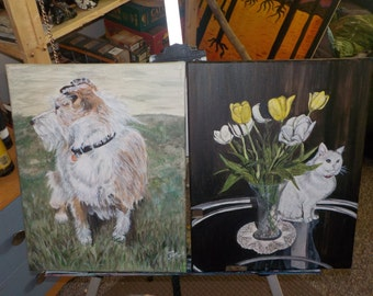 Custom Made to Order Pet or Animal Portraits