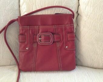 Clarks Red Leather Shoulder Bag