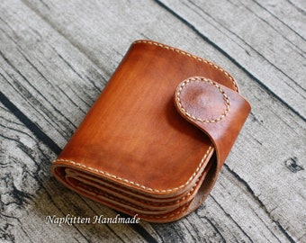 Leather wallet pattern, Bi fold wallet sewing pattern, Leather craft pattern, Coin purse pattern,Leather coin purse,Zippered wallet pattern